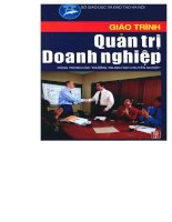 Giáo trình quản trị doanh nghiệp part 1 doc