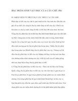 ĐẶC ĐIỂM SINH VẬT HỌC CỦA CÂY CHÈ (P4) docx