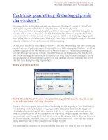 Cách khắc phục những lỗi thường gặp nhất của windows 7 pdf