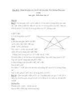 Chủ đề 2: Quan hệ giữa các yếu tố của tam giác ppt