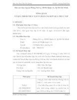Báo cáo thực tập tại Phòng Nội vụ, UBND Quận 11, Tp Hồ Chí Minh