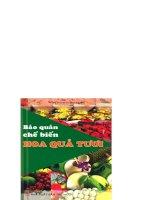 Bảo quản và chế biến hoa quả tươi part 1 pdf