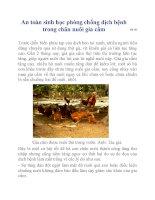 An toàn sinh học phòng chống dịch bệnh trong chăn nuôi gia cầm ppt