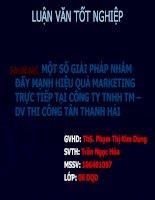Một số giải pháp nhằm đẩy mạnh hiệu quả Marketing trực tiếp tại công ty TNHH thương mại dịch vụ thi công Tân Thanh Hải.PPT