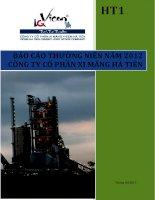 báo cáo thường niên năm 2012 công ty cổ phần xi măng hà tiên