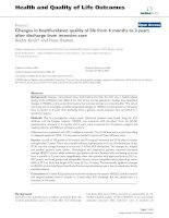 Health and Quality of Life Outcomes BioMed Central Research Open Access Changes in health-related doc