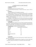 Báo cáo phương pháp xác định tinh bột,cellulose và pectin