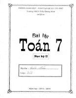 bài tập toán lớp 7 học kỳ 2