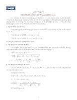 Chuyên đề 9: Phương pháp tọa độ trong không gian ppt