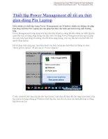 Thiết lập Power Management để tối ưu thời gian dùng Pin Laptop docx