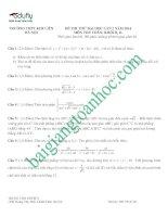 đề thi thử môn toán thpt kim liên l2