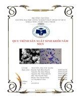 Quy trình sản xuất sinh khối nấm men