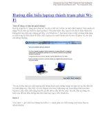 Hướng dẫn biến laptop thành trạm phát WiFi ppt