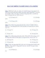 BAI TAP NHÔM VÀ HỢP CHẤT CỦA NHÔM pdf