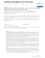 Health and Quality of Life Outcomes BioMed Central Research Open Access Women with coronary pot