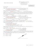 Dạng bài thi trắc nghiệm môn vật lý lớp 10 THPT