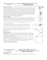 Đề thi HSG Vật lý THPT Tĩnh Gia 2