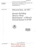 Report to the President of the Senate and , the Speaker of the House of Representatives_part1 doc