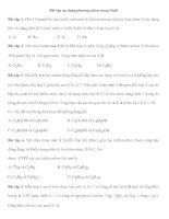 Bài tập áp dụng phương pháp trung bình potx