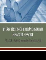 Phân tích môi trường nội bộ heacor resort