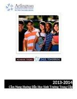 2013-2014 cẩm nang hướng dẫn học sinh trường trung cấp