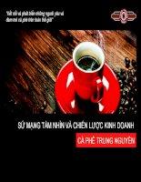 Luận văn Sứ mạng tầm nhìn và chiến lược kinh doanh của cà phê Trung Nguyên