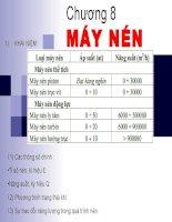 Các quá trình cơ học-Chương 8 -Máy nén pdf