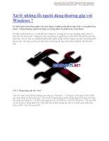 Xử lý những lỗi người dùng thường gặp với Windows 7 docx