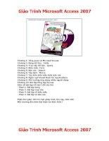 Giáo Trình Microsoft Access 2007 docx