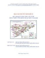 Báo cáo thuyết minh đồ án: Quy hoạch tổng thể cấp nước nông thôn tỉnh Bình Thuận đến năm 2010