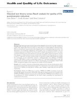 Health and Quality of Life Outcomes BioMed Central Research Open Access Classical test theory potx