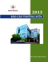 báo cáo thường niên 2013 evn pecc4 nha trang tháng 4 2014 Giải pháp tin cậy  Nâng tầm đối tác