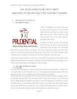 Xây dựng chiến lược phát triển cho công ty prudential vệt nam đến năm 2020