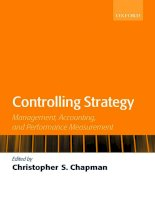 Controlling Strategy Management, Accounting, and Performance Measurement_1 docx