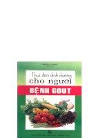 Thực đơn dinh dưỡng cho người bệnh Gout part 1 pptx