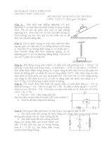 Đề thi thử môn vật lý HSG cấp trường
