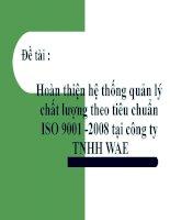 phương pháp hoàn thiện hệ thống quản lý chất lượng theo iso 9001-2008 tại công ty TNHH wae