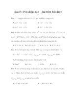 Bài 5 : Pin điện hóa - ăn mòn hóa học doc