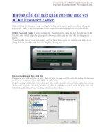 Hướng dẫn đặt mật khẩu cho thư mục với IOBit Password Folder docx