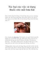 Tác hại của việc sử dụng thuốc nhỏ mắt bừa bãi pot
