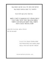LUẬN VĂN CÔNG NGHỆ HÓA ĐIỀU CHẾ VÀ KHẢO SÁT TÍNH CHẤT VẬT LIỆU XÚC TÁC QUANG HÓA TRÊN CƠ SỞ GẮN KẾT TiO2 TRÊN NỀN CHẤT MANG XỐP