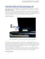 Các bước kiểm tra khi mua laptop cũ pdf