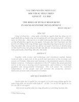 Vai trò của nguồn nhân lực đối với sự phát triển kinh tế xã hội pot