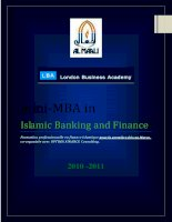 Islamic Banking and Finance Formation professionnelle en finance islamique pour la première fois au Maroc. co-organisée avec OPTIMA FINANCE Consulting_2 docx