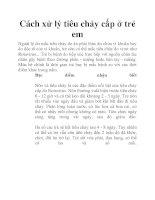 Cách xử lý tiêu chảy cấp ở trẻ em pdf