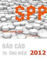 báo cáo thường niên 2012 saplastic.jsc tạo nên đẳng cấp công ty cổ phần bao bì nhựa sài gòn