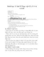 Sinh học 11 bài 9 Thực vật C3, C4 và CAM doc