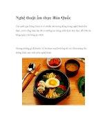 Nghệ thuật ẩm thực Hàn Quốc pdf