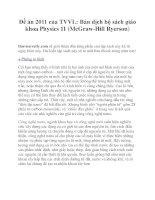 Đề án 2011 của TVVL: Bản dịch bộ sách giáo khoa Physics 11 (McGraw-Hill Ryerson) docx