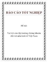 Đề tài: Vai trò của thị trường chứng khoán đối với nền kinh tế Việt Nam pdf